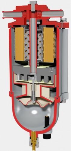 внутренняя начинка топливного фильтра